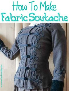 How To Make Fabric Soutache Sewing Hacks, Sewing Tutorials, Crochet Tutorials, Sewing Tips, Sewing Projects, Shorts Tutorial, Diy Clothing, Clothes Refashion, Fabric Scissors