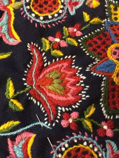 Marvelous Crewel Embroidery Long Short Soft Shading In Colors Ideas. Enchanting Crewel Embroidery Long Short Soft Shading In Colors Ideas. Scandinavian Embroidery, Hungarian Embroidery, Embroidery Needles, Crewel Embroidery, Floral Embroidery, Cross Stitch Embroidery, Embroidery Patterns, Machine Embroidery, Folklore