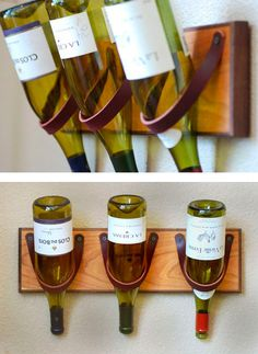 Cedar + Leather wine rack