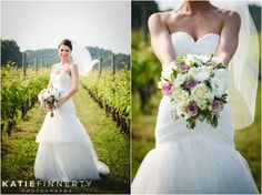 Stunning Bride holding her flowers at Baiting Hollow Vineyard, LI. Wedding Photos by Rochester, NY based Wedding Photographer Katie Finnerty Photography | http://www.katiefinnertyphotography.com/blog/2015.6.17.lombardis-on-the-bay-wedding-amanda-ajLong Island Wedding