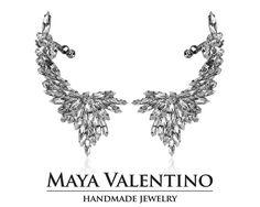 Bridal ear cuff warp earrings big ear cuff silver by MayaValentino Big Earrings, Cuff Earrings, Crystal Earrings, Statement Earrings, Etsy Earrings, Silver Earrings, Ear Climber, Valentino, Climbing Earrings