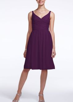David's bridal- hard to find the right purple but a few good styles