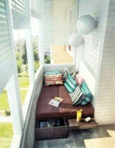 Idea for small balcony - Natli Morgan - Diy - Kleiner Balkon - Interior Balcony, Apartment Balcony Decorating, Apartment Balconies, Balcony Design, Balcony Ideas, Balcony Chairs, Balcony Furniture, Ikea Design, Trendy Home