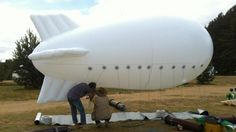 Blimp collects water from clouds and generates energy as it flows to the ground. According to the designers, they have produced and flown a scale prototype of the blimp
