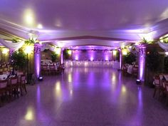 I was back at the Masonic Temple in Erie in the Camelot Room on August 24th. Danielle and Ryan chose uplighting in purple.