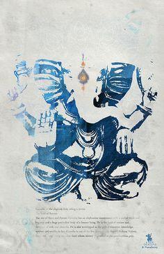 GANESHA art print by Pranatheory