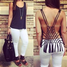 There is 0 tip to buy open back, shirt. Help by posting a tip if you know where to get one of these clothes. I Love Fashion, Diy Fashion, Passion For Fashion, Womens Fashion, Spring Wear, Spring Summer Fashion, Summer Outfits, Cute Outfits, Winter Outfits