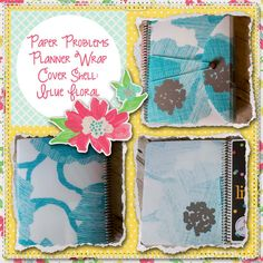 Planner wrap covers & more for Erin Condren, Plum paper, inkwell press, limelife, simplified life, arc, mambi happy planner & more. Visit my Etsy listing at https://www.etsy.com/listing/229373085/clearance-blue-floral-wrap-planner-cover