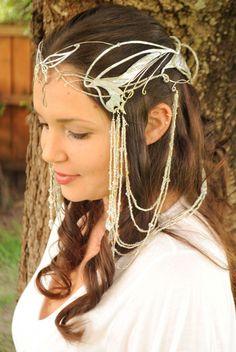 Lord of the Rings Arwen Coronation Butterfly Crown Replica Custom Order by MyBea. Lord of the Ring Geek Wedding, Celtic Wedding, Dream Wedding, Elvish Wedding, Pagan Wedding, Wedding Ideas, Middle Earth Wedding, Pale Blonde Hair, Elfa