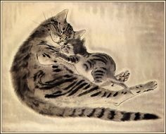 Mom kitty By Léonard Tsugouharu Foujita                                                                                                                                                                                 Plus