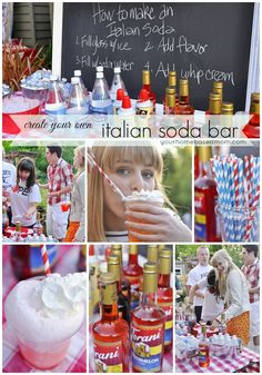 Italian Soda Bar We had this at our wedding and it was a HUGE hit!!!