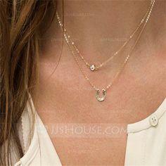 Exquisite Alloy/Rhinestones Ladies' Necklaces (011065839)