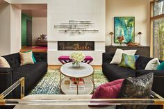 Homeowners inject bold colors and cat-friendly touches. Layout, Property Management, Apartment Living, Bold Colors, Touch, Architecture, Seattle Homes, Projects, Design