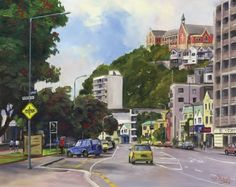 Check out Oriental Bay Wellington by Ernest Papps at New Zealand Fine Prints