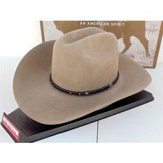 Stetson Cowboy Hat 4X Buffalo Felt Powder River Stone 55ab5d992ef8