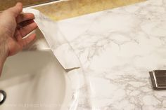 How to do a Sturdy & Stunning Granite Contact Paper Countertop Makeover – Camper Remodeling – epo countertop kitchen Countertop Makeover, Diy Countertops, Painting Countertops, Home Remodeling Diy, Camper Remodeling, Contact Paper Countertop, Home Fix, Remodeled Campers, Diy Home Improvement