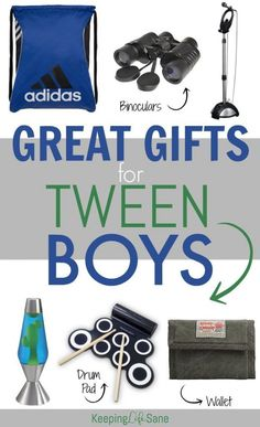 Tweens can be tough to buy for. Here's a great list of OVER 30 items your tween BOY will love! Tweens can be tough to buy for. Here's a great list of OVER 30 items your tween BOY will love! Tween Boy Gifts, Gifts For Teen Boys, Birthday Gifts For Boys, Gifts For Teens, Teenage Boy Birthday, 13 Birthday, Birthday Ideas, Trending Christmas Gifts, Christmas Gifts For Boys