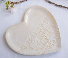 Moon Glow Heart Plate: with alphabet! I am so sold