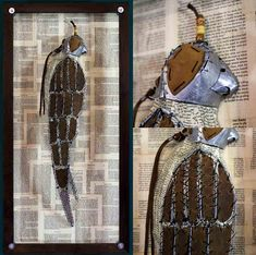 The Falcon(Hotel Indigo Commission) Old Book Pages, Old Books, Hotel Indigo, Wire Frame, Weird And Wonderful, Three Dimensional, Tin, Art Projects, Beads