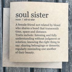 Soul Sister card happy friend quotes friendship quotes happy quotes day quotes birthday quotes wife quotes quotes quotes sayings Sister Friend Quotes, Sister Friends, Bff Quotes, Happy Quotes, Best Friend Birthday Quotes, Soul Quotes, Cute Best Friend Quotes, Best Friend Quotes Meaningful, Soul Friend