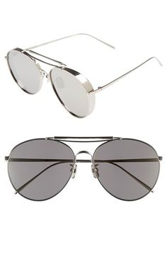 985a8d8845d Gentle Monster 60mm Aviator Sunglasses Brow Bar