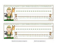 Printable Nameplates (2 different designs) for a Safari, Wild, or Jungle Themed Classroom.Features:*A place for student name*Alphabet line at...