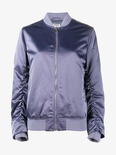 ACNE STUDIOS Ruched Sleeve Bomber Jacket.  acnestudios  cloth   Wool Bomber  Jacket, 46d0d88842e