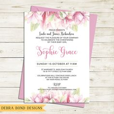 Print Ready Naming Ceremony Invitation Template  PsdAi