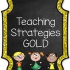 """Does your school have to do the """"Teaching Strategies GOLD"""" assessment? Are you looking for a nice organized way to keep all of your observations? I..."""
