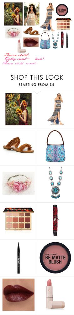 """""""For musicfreakofnature (friend) - musicfreakofnature's ideal wardrobe by me:Flower child!"""" by sarah-m-smith ❤ liked on Polyvore featuring Tularosa, Joie, Kalencom, Child Of Wild, tarte, Physicians Formula, Kat Von D and Lipstick Queen"""