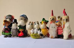 the whole vintage Moomin gang