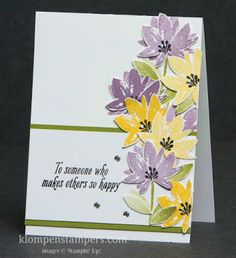 Avant Garden Stampin' Up! Sale-a-bration set.  Love the spring look!  These flowers are so easy and gorgeous!