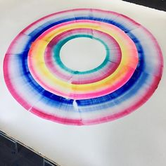 "multicolor #watercolor on paper // 51"" tall #watercolour #watercolorpainting #abstractart #workinprogress @shanafrase #shanafrase by shana frase"
