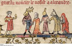 mummers - Bodleian Library MS. Bodl 264. fol 21v -