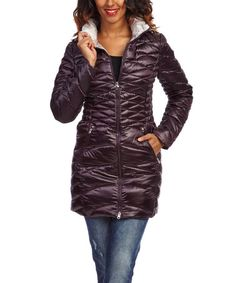 Love this Auburn Quilted Down Puffer Coat - Women by Laundry by Shelli Segal on #zulily! #zulilyfinds