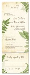 Fern Wedding Invitations   Vintage Lovely Fern (100% recycled paper)