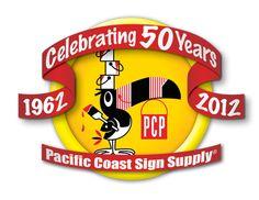 Vinyl cutters, laminates, printers, sign blanks, and vinyl films. http://www.pacificcoastsignsupply.com/