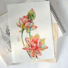 Botanical illustration on Behance Botanical Illustration, Illustration Art, Zen Tattoo, Behance, Watercolor, Flowers, Tattoo Ideas, Inspiration, Pen And Wash
