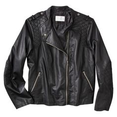 Xhilaration® Juniors Plus-Size Outerwear Moto Jacket - Black...Did Target only make this in Plus Size?