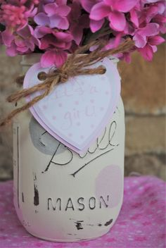 Baby Girl Shower Centerpiece It's a Girl Heart by charmcitycharm
