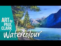 How to paint a mountain scene in watercolour - YouTube
