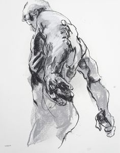 Derek Overfield - Drawing 369, charcoal and pastel on paper, 11 x 14, 2015