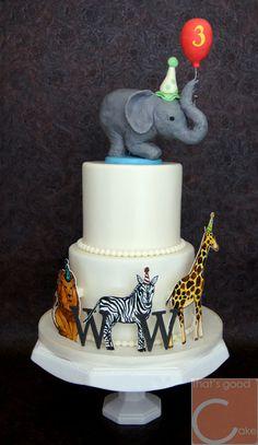Zoo Birthday Cake!