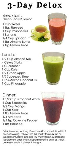 How to make detox smoothies. Do detox smoothies help lose weight? Learn which ingredients help you detox and lose weight without starving yourself. Healthy Drinks, Healthy Snacks, Healthy Recipes, Locarb Recipes, Bariatric Recipes, Quick Recipes, Diabetic Recipes, Beef Recipes, Smoothies Healthy Weightloss