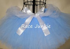 Cinderella Disney Princess Running Tutu. Blue and White Princess Tutu 9 inch tutu run Disney or princess running costume https://www.etsy.com/shop/RaceJunkie