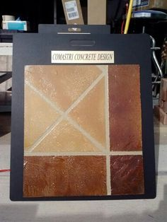 Decorative Tile Board Three Of The Sample Boards Custom Made Decorative Concrete
