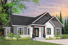 3-Bed Modern Craftsman Ranch Home Plan - 22475DR | Architectural Designs - House Plans