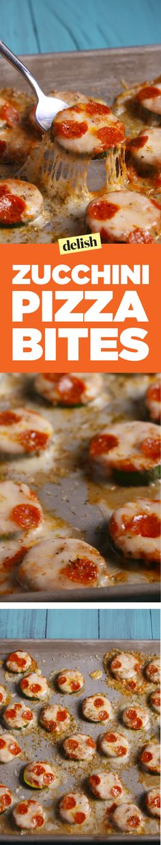 Zucchini pizza bites are a low-cal snack you'll actually want to eat. Get the recipe on Delish.com.