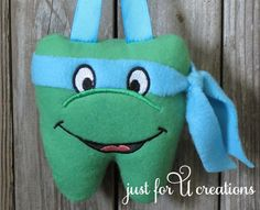 Boy's Tooth Fairy Pillow Teenage Mutant Ninja Turtles Leonardo #Handmade