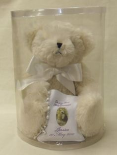 beautiful bear complete with message and rosary beads. Communion Gifts, Rosary Beads, Personalised Gifts, Teddy Bear, Messages, Toys, Animals, Beautiful, Personalized Gifts
